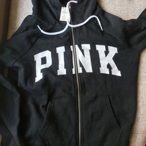 Victoria's Secret Jackets & Coats - NWT Black Victoria's Secret ZipUp